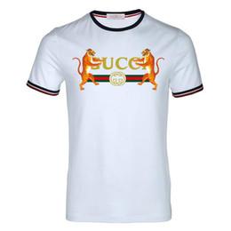 Рубашки для мужчин бесплатно онлайн-Лето 100% хлопок новый V-образным вырезом с коротким рукавом футболки бренда мужская футболка спортивный досуг тигровая голова с рисунком мужской футболки, бесплатная доставка