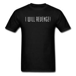 Я Буду Мстить! Мужчины футболка с коротким рукавом футболка письмо футболка простой повседневная летние топы тис хлопок уличный стиль подростков одежда от