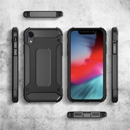 S5 estojo resistente a choque on-line-Armadura híbrida defensor case tpu + pc capa à prova de choque para iphone x xr xs xs max 5 se 6 7 8 plus galaxy s5 s6 s7 s6 edge borda s8 s8 plus 220 pçs / lote