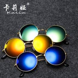 2019 яркие солнцезащитные очки Европейский и американский простота солнцезащитные очки для мужчин круглая рамка металлические солнцезащитные очки ретро принц зеркало яркие очки тенденция солнцезащитные очки скидка яркие солнцезащитные очки