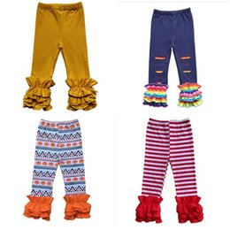 8dfcb1e0155ae Leggings For Girls Designer Clothes Kids Triple Ruffle Leggings Soft Solid  Girls Pants Toddler Girl Trousers Hight Quality 34 colors Gifts