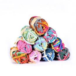 2019 полиэстер DIY одежда кожаный мешок швейные аксессуары текстиль сегмент печати цвет ковер полиэстер ткань линия ручной плетеный провод скидка полиэстер
