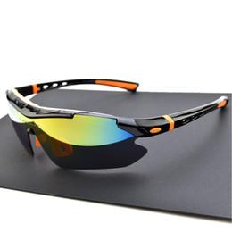 Gafas de ciclo miopía online-Gafas polarizadas para ciclismo Gafas al por mayor para ciclistas Gafas de sol para hombres, mujeres y hombres Gafas para ciclismo de MTB Gafas 5 lentes con marco de miopía