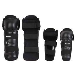 Rodilleras de rodillas de carrera online-Adulto 4 unids Kit Al Aire Libre Deportes Elbow Knee Shin Armor Gear Protector Pads Protector para Bicicleta Motocicleta Bicicleta Racing Patinaje