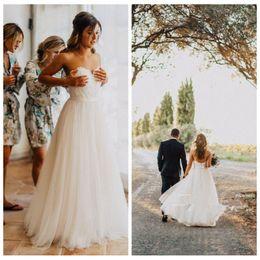 2019 appliques de dentelle chérie top tulle une ligne robes de mariée chérie jardin formel robes de mariée robes de mariée longue ? partir de fabricateur