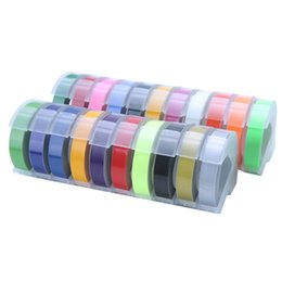 Etichette dymo online-5PCS Dymo multicolore Dymo 3D 6/9 / 12mm Nastro per etichette in rilievo Compatibile Dymo 1610/12965/1540 Stampante per etichette per Motex E101 Makers