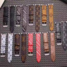 boucle en cuir pomme Promotion Pour bracelets Apple Watch iWatch Series 4 3 2 1 SUP Remplacement Bracelets en cuir PU Bretelles Sport Boucle 42 / 44mm 38 / 40mm