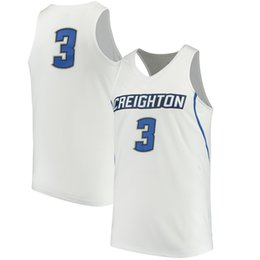 Athletische basketball-trikots online-3 Doug McDermott Creighton Bluejays Männer College Basketball Jersey Stickerei Athletic Outdoor Apparel Herren Sport Trikots Größe S-3XL