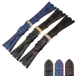 brazaletes zulú Rebajas 28 mm en forma para Audemars correa de cuero genuino cuero de vaca + cierre plegable para AP Piguet envío gratis