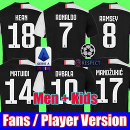 Tailand Sports RONALDO juventus 2019 2020 camisa de futebol DYBALA 18 19 20 camisa de futebol kit Top fãs versão do jogador homens mulheres crianças campeão liga Serie A cheap uniform soccer jerseys de Fornecedores de camisas uniformes de futebol