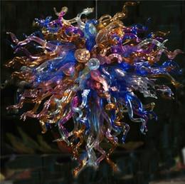 Envío Gratis Bright Dale Chihuly Glass Art Lámpara Colgante Contemporánea Lámpara de Cristal de Colores Barato Luz de Techo desde fabricantes