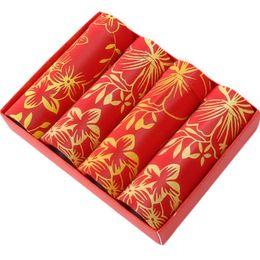 2019 ropa interior de estilo chino 4 unids chino Lucky Red Underwear hombres Boxer Shorts suave transpirable grande rojo Sexy hombre Boxer estilo clásico chino calzoncillos ropa interior de estilo chino baratos