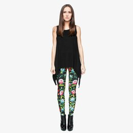 leggings bird print Coupons - Women Leggings Birds & Blooms 3D Digital Full Print Spring Summer Autumn Pants Lady Full Length Pencil Fit Girls Sports Trousers (Y29514)