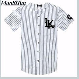 Tyga kleidung online-Neue Sommer Stil Herren T Shirts Mode 2019 Streetwear Hip Hop Hemd Baseball Jersey Gestreiftes Hemd Männer Kleidung Tyga M-xxl Y190513
