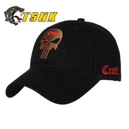 34c2a4cb66a TSNK Men Women Embroidered Amercian Punisher SEAL Team Cotton Running Hat  Adjusted Snapback Baseball Cap Box Packing
