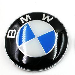 Emblema del cromo del tronco online-NUOVO 74mm Car Emblem Chrome Rear Tail Badge Logo 2 Pin per BMW Rear Trunk 528i 535i 740i 750i X4