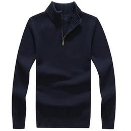 2019 grandes suéteres gruesos Suéteres para hombres Suéteres gruesos cálidos de invierno con cremallera Suéteres de lana de cachemira Hombre Ropa de punto informal Ropa de terciopelo grande rebajas grandes suéteres gruesos