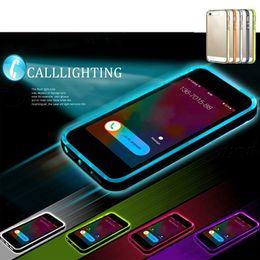 "Führte notfall fall online-Led-blitz ultradünne rückseitige abdeckung anruf beleuchtung tpu case für samsung s5 / s6 / s6 rand note 3/4/5 iphone 5 s 6/6 s plus 4,7 ""5,5"""