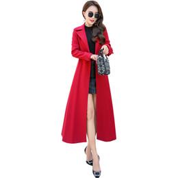 2019 xs mujer abrigo largo coreano Moda para mujer 2019 Nueva Capucha Trench Coat Coreano Primavera Otoño Tallas grandes para mujer Escudo suelto Prendas de abrigo Womens Windbreaker 3XL xs mujer abrigo largo coreano baratos