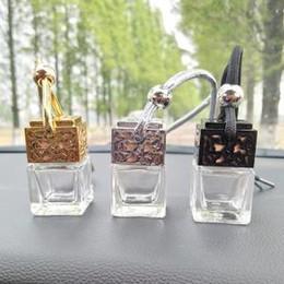 8ML suspension de parfum de voiture bouteille creuse de parfum diffuseur de bouteille de voiture air freshner verre huile essentielle de bouteille de voiture décorations AAA1613 ? partir de fabricateur