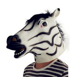 Argentina Cebra máscaras de látex de Halloween Cosplay Animales Máscaras del partido Accesorios de Traje Suministro