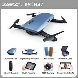 2019 câmera de atualização quadcopter hd JJRC H47 Mini Selfie Dobrável Dobrável com Câmera HD FPV G-sensor Atualizado Dobrável Arm Controller Aerobatic Vôo Quadcopter desconto câmera de atualização quadcopter hd