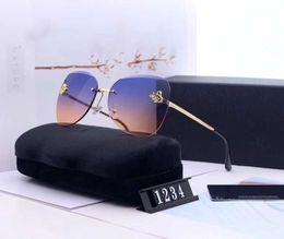 óculos de sol pássaros Desconto Moda Feminina Designer de Óculos De Sol De Luxo Óculos De Sol de Vidro Adumbral Pássaro Voador Estilo C1234Glasses UV400 6 Opção de Cor de Alta Qualidade com Caixa