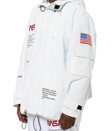 2019 parka de moda feminina Das mulheres dos homens solto marca de moda casacos casacos HERON PRESTON NASA alta tecnologia Streetwear Parka carta Mens impressão Windbreakers Outerwear parka de moda feminina barato