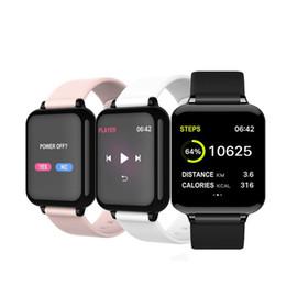2020 cor relógios inteligentes Relógio inteligente 2020 Smart Screen Watch Color Pressão relógio inteligente Heart Rate Sangue Esfigmomanômetro Pacing Reminder Bluetooth Bracelet Sports cor relógios inteligentes barato