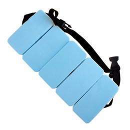 плавательные учебные пособия Скидка EVA Swiming Float Adjustable Waist Belt Children swimming board Practice swimming aids training tools