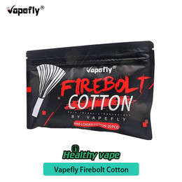 Peças de cigarros eletrônicos on-line-100% original algodão orgânico vapefly firebolt para diy bobina 20 / pack construção de peças de reposição de cigarro eletrônico para diy rda rba rta