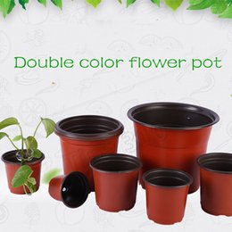 2019 vasetti da giardino in ceramica all'ingrosso Nuovo vaso da fiori bicolore, vaso da fiori in plastica semina trapianto vaso da fiori resistente all'usura, materiale da giardinaggio per la casa T2I5075