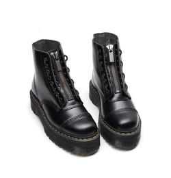 Nuovo frontale progettista cerniera stivali Martin 8 foro 1460 della piattaforma scarpe stivali donne 5cm invernali caviglia taglia 35-41 da