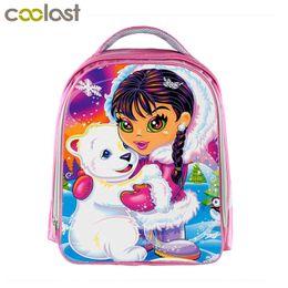 2019 mochila de oso pardo Linda niña marrón y oso mochila para niñas de 3-6 años niños mochilas escolares panda mochila niños rosa bolsa de jardín de infantes regalo mochila de oso pardo baratos