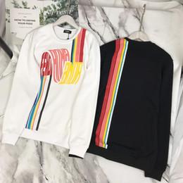 2019 confeccionar ropa 19SS París FD cartas diseño retro del arco iris Tailored Ropa Hombres Mujeres Casual puente sudaderas con capucha sudadera con capucha de Streetwear al aire libre confeccionar ropa baratos