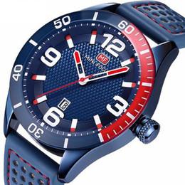 2019 números automáticos Militar Vestido Quartz Watch Men 46mm caso grande número Azul Pulseira De Couro À Prova D 'Água Clássico Auto Data Moda Mens Relógios números automáticos barato