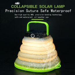 Lamparas solares para camping. online-Lámpara LED portátil telescópica USB carga solar luces de camping impermeable solar led iluminación exterior para emergencia carpa luces MMA1881