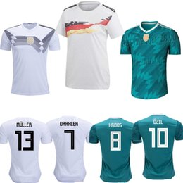 19390677c 2019 2020 Men Home Kit Soccer Jerseys 2018 World Cup OZIL MULLER KROOS REUS FOOTBALL  SHIRT WERNER DRAXLER KROOS Neuer gerMANy JERSEYS Adults