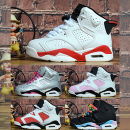 chaussures de basket kobe haute Promotion Nike Air Jordan 6 Garçons Filles Bébé Tout-petit Chaussures De Course De Luxe Designer Marque Enfants Chaussures J 6 Enfants Garçon Et Gril Sport Sneaker Athlétisme Chaussures