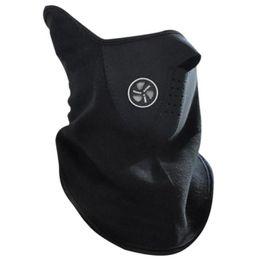 Masque de ski noir rouge en Ligne-Nouveau Sport En Plein Air Unisexe Hiver Cyclisme Masque De Ski Ski Demi Masque Pour Vélo Equitation Réchauffeur Noir Bleu Rouge Vente Chaude