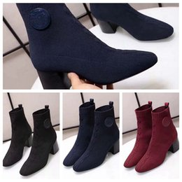 glitter netting Promo Codes - 2019 Woman Cashmere Boots Brand Designer Heels Shoes Sock Shoe Superstar Heels Boots Sheepskin Shoes Ladies Sock Shoe Eu:35-39 With box AMS1