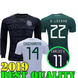 6d61eb7f1ca GOLD CUP Black 2019 Mexico world cup National Team men Jersey 18 19 Mexico  Home green Soccer Jerseys away white Football Shirts uniforms