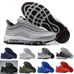 Nike air max 97 2018 новые туфли KPU кроссовки пластиковые дешевые мужчины обучение открытый высокое качество мужские кроссовки Zapatos случайные кроссовки от Поставщики размер 13 ясно обувной коробки