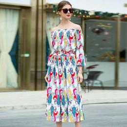 ec84a1ed2f0 2019 fashion women brand designed Skirt Suits Two Piece Sets floral print  runway suits elegant skirts tassel shirts off shoulder blouses G89