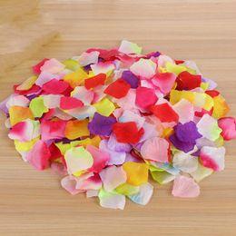 Imitación Pétalos de rosa Seda Flores Accesorios Bodas Discurso Cumpleaños Aniversarios Fiesta Interior Decoración de la habitación Atmósfera Conjunto Accesorio desde fabricantes