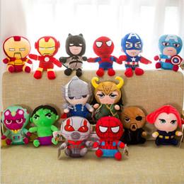 ti nuovi grandi occhi Sconti 25cm Marvel Avengers 4 Superhero all staff Peluche Dolls Captain America Ironman Iron man Spiderman loki Thor Peluche