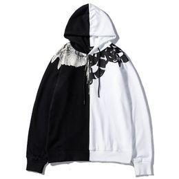 Longo, hoodies, asas on-line-2018 Moda Camisolas Homens Pullover Marca Hoodies Manga Longa Designer de Camisola WingSnake Impresso Com Capuz Novo Designer de Roupas Masculinas