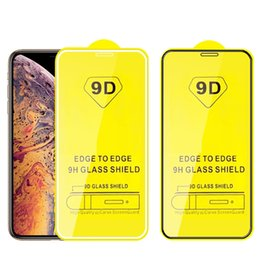 9D Completo curvado de cristal templado película protectora de pantalla del teléfono celular para iPhone XS MAX XR X 8 7 6 más Samsung A6 A8 J4 J6 J8 2018 sin paquete desde fabricantes