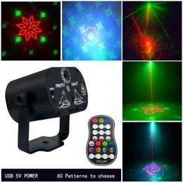 речевой управляющий лазер Скидка Мини-USB-заряд 60 моделей LED DJ Disco Party Stage Lighting Effect голосовое управление лазерный проектор свет для свадьбы День Рождения