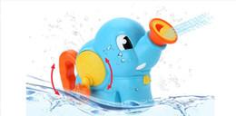 Knowledge Garden 1765 Splashing Interactive Bella vasca da bagno giocattoli di gomma giocattoli nella vasca da bagno per bambini giocattoli ammaccature giocare a getto d'acqua elefante da